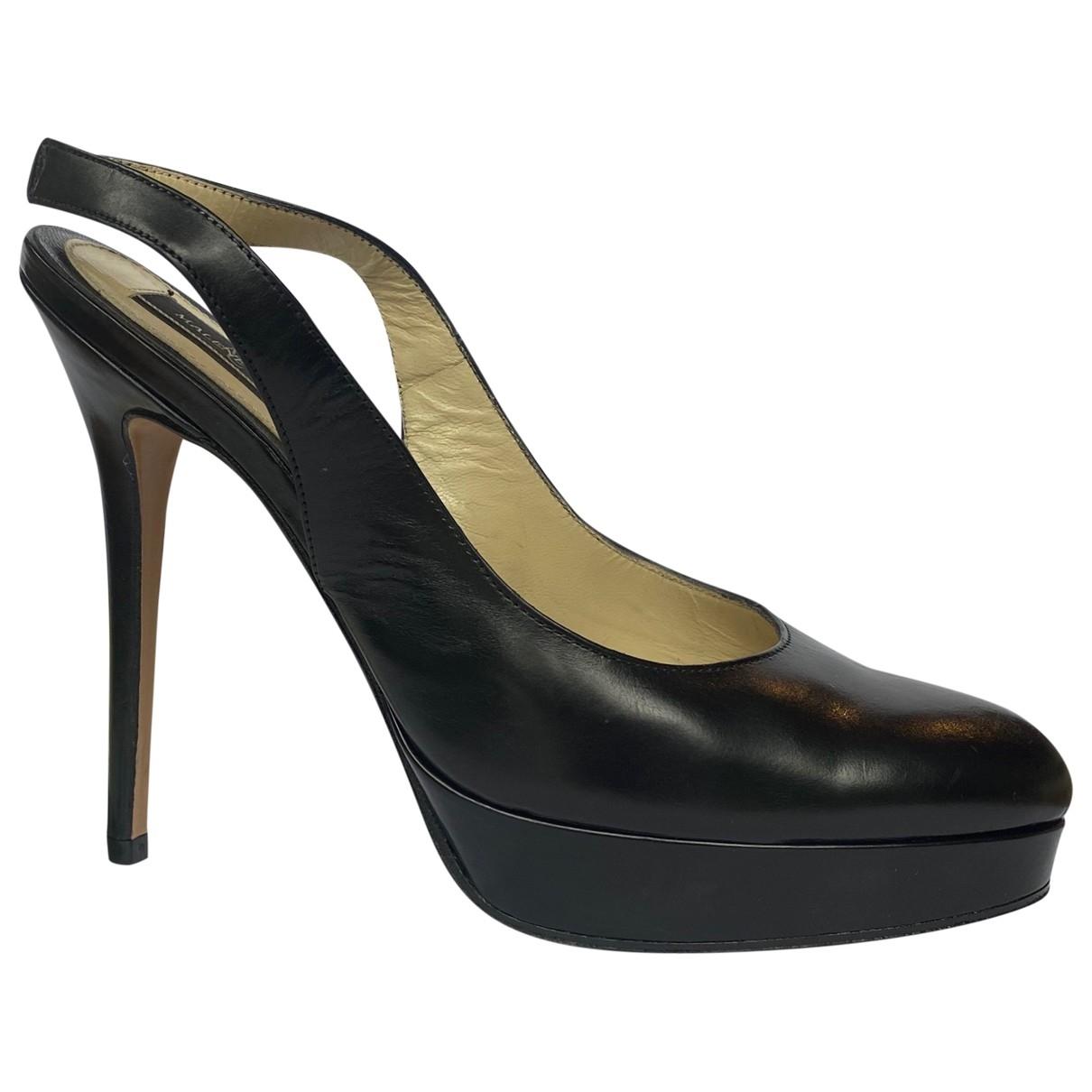By Malene Birger \N Black Leather Heels for Women 38 EU