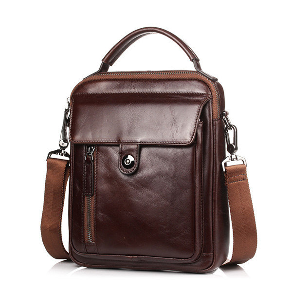 Genuine Leather Vintage Business Single-shoulder Bag Crossbody Bag For Men