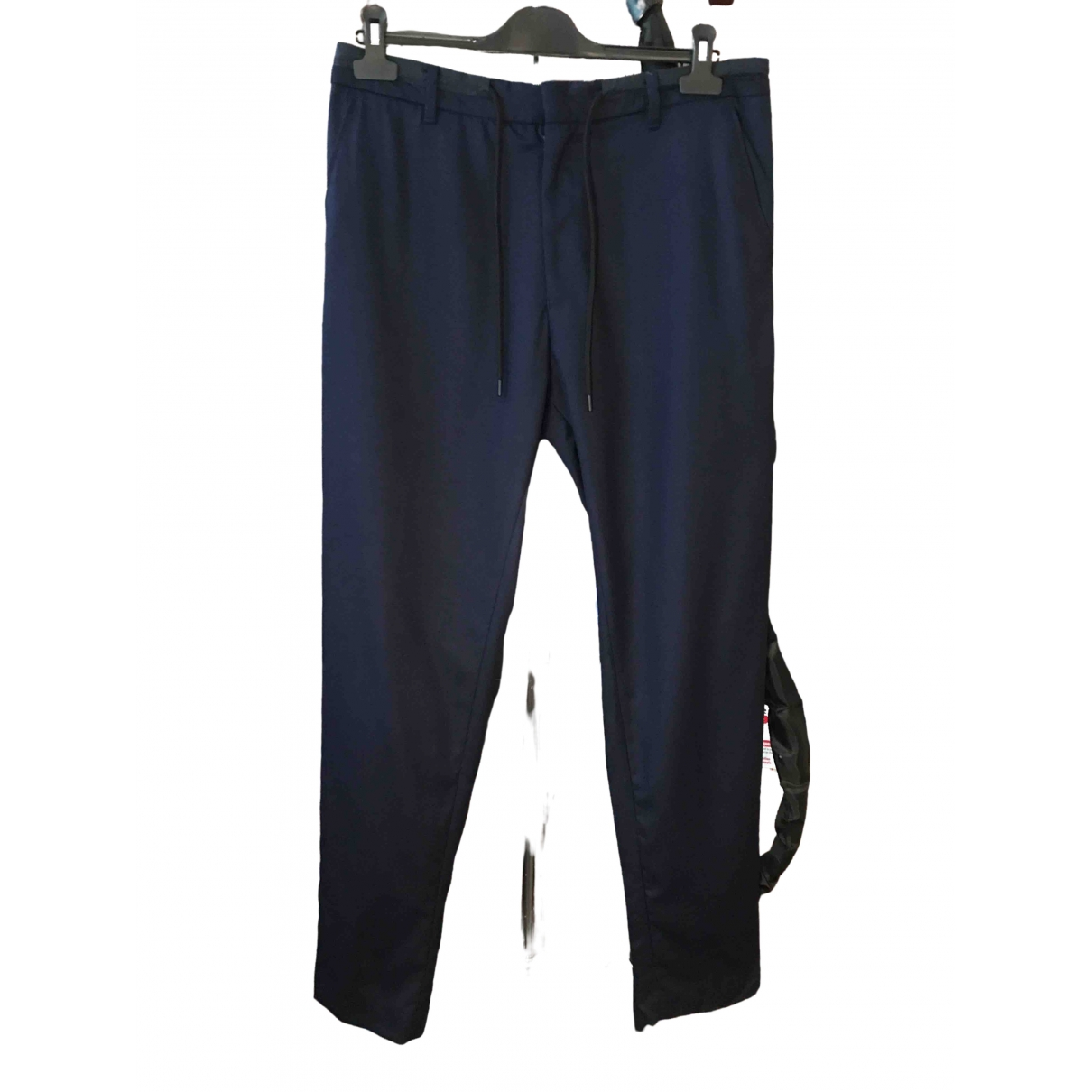 Kenzo \N Navy Wool Trousers for Men 48 IT