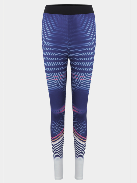 Yoins Active Random Print High Waisted Gym Leggings in Purple