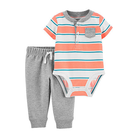 Carter's Baby Boys Bodysuit Set, 3 Months , Orange