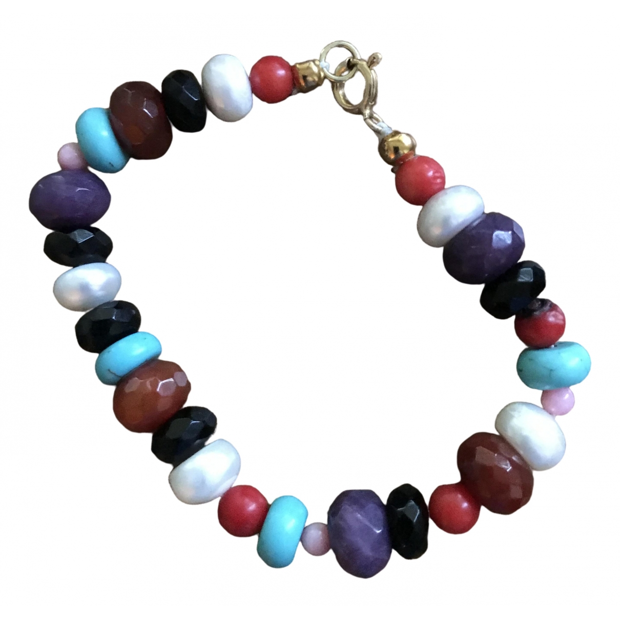 Non Signé / Unsigned Turquoises Multicolour Pearls bracelet for Women \N