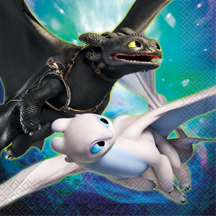 How to Train Your Dragon 3 Luncheon Napkins, 16ct For Birthday Party