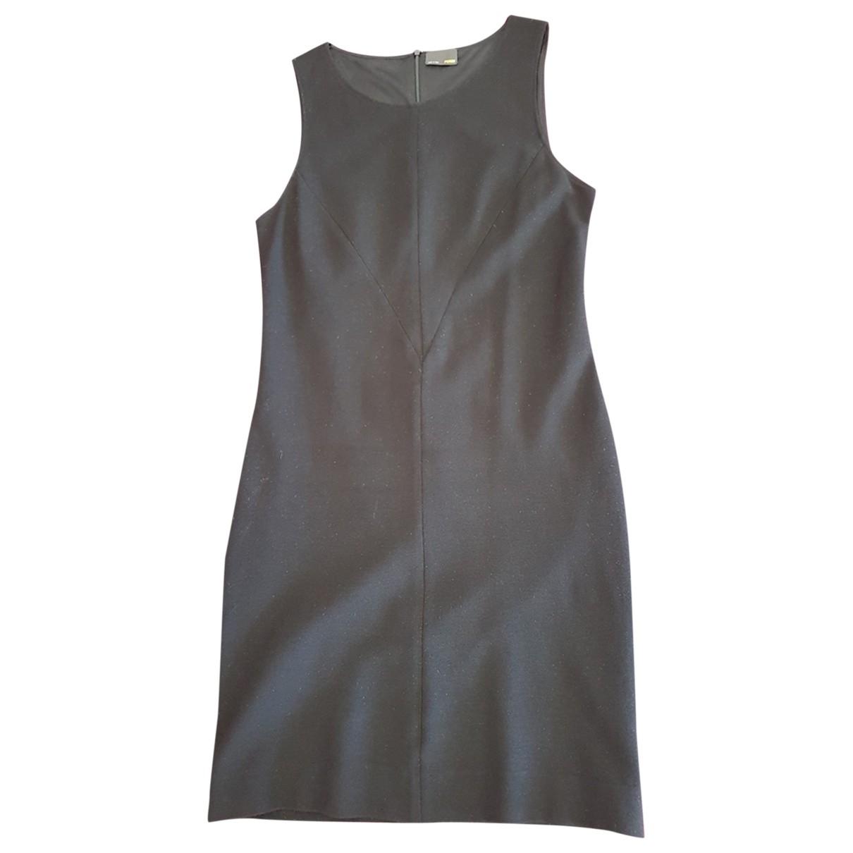 Fendi \N Black Wool dress for Women 40 FR