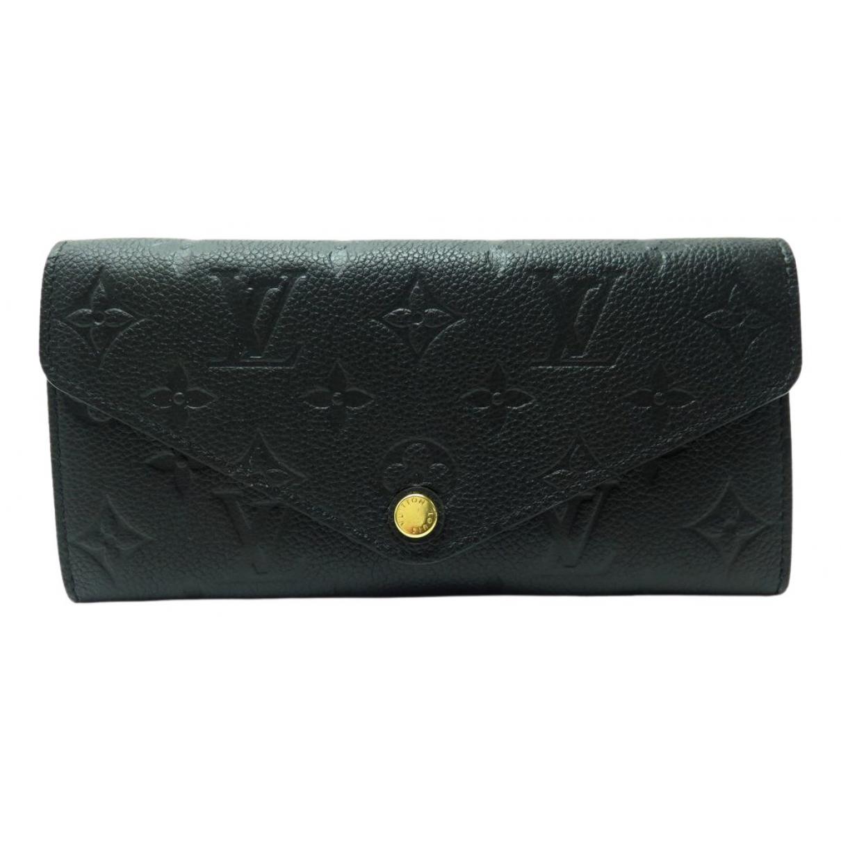Louis Vuitton Joséphine Black Leather wallet for Women \N