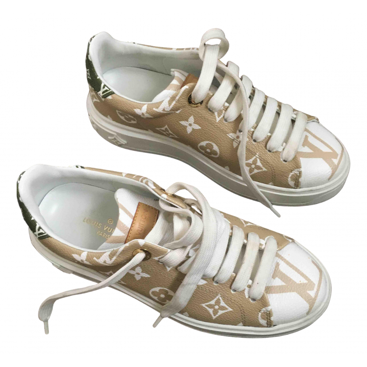 Louis Vuitton TimeOut Green Leather Trainers for Women 36 EU