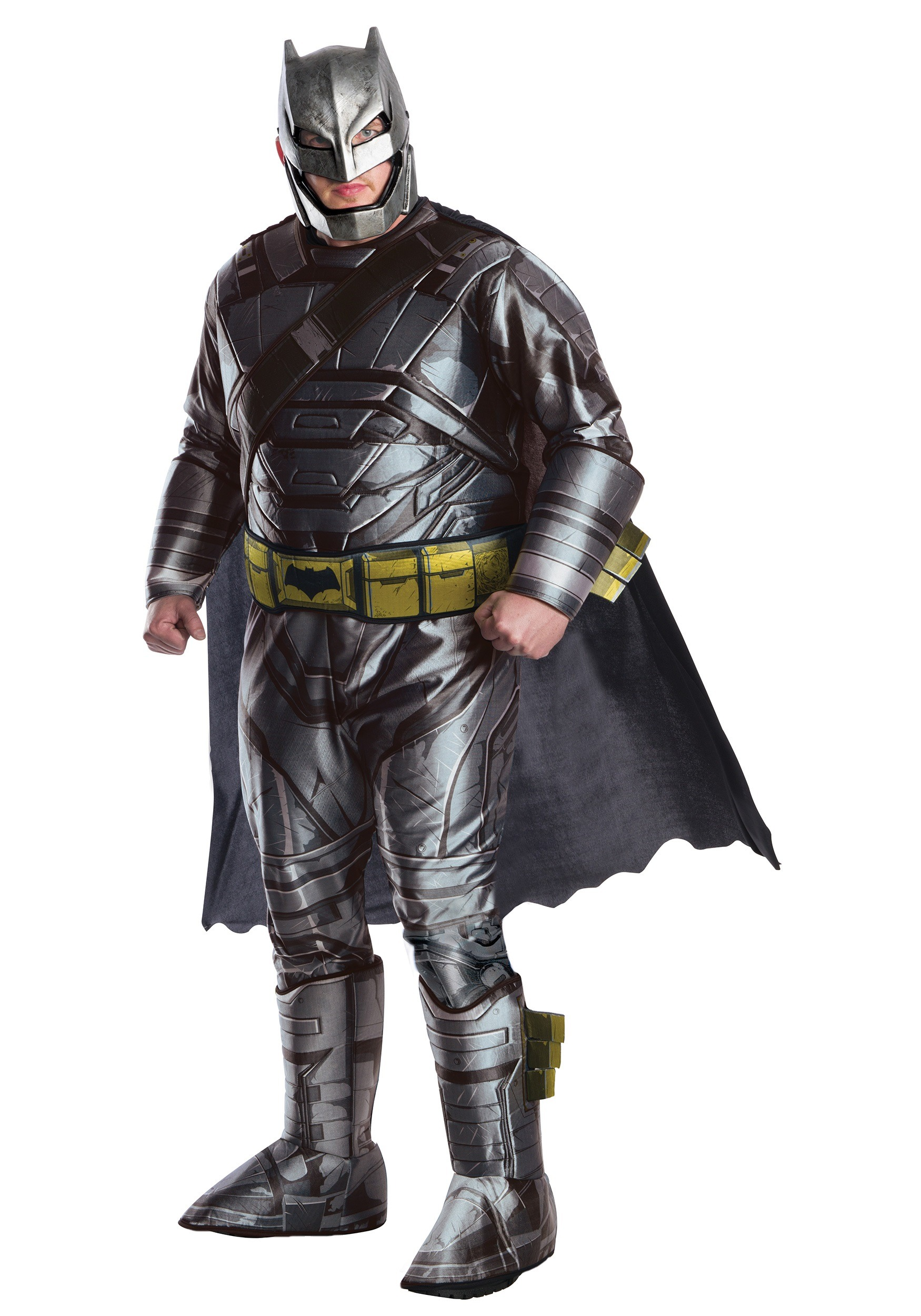 Plus Size Deluxe Dawn of Justice Armored Batman Costume 1X