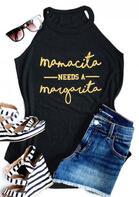 Mamacita Needs A Margarita Tank - Black
