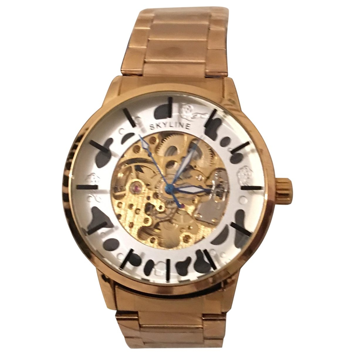 Non Signé / Unsigned \N Gold Steel watch for Men \N