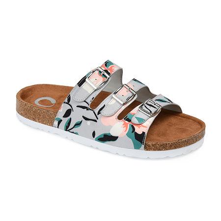 Journee Collection Womens Desta Slip-On Shoe, 6 Medium, Multiple Colors