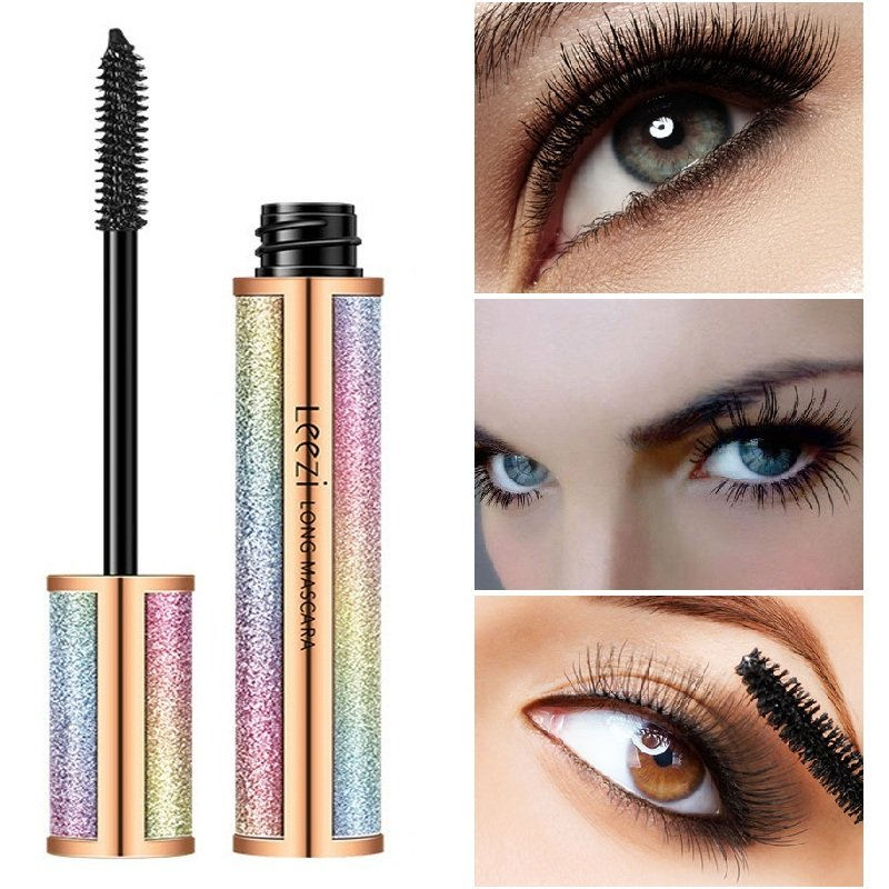 Star 4D Long Mascara Thick Curling Waterproof Sweat-Proof Non Blooming Mascara Eye Makeup