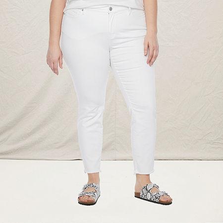 a.n.a-Plus Womens Skinny Jean, 14w , White