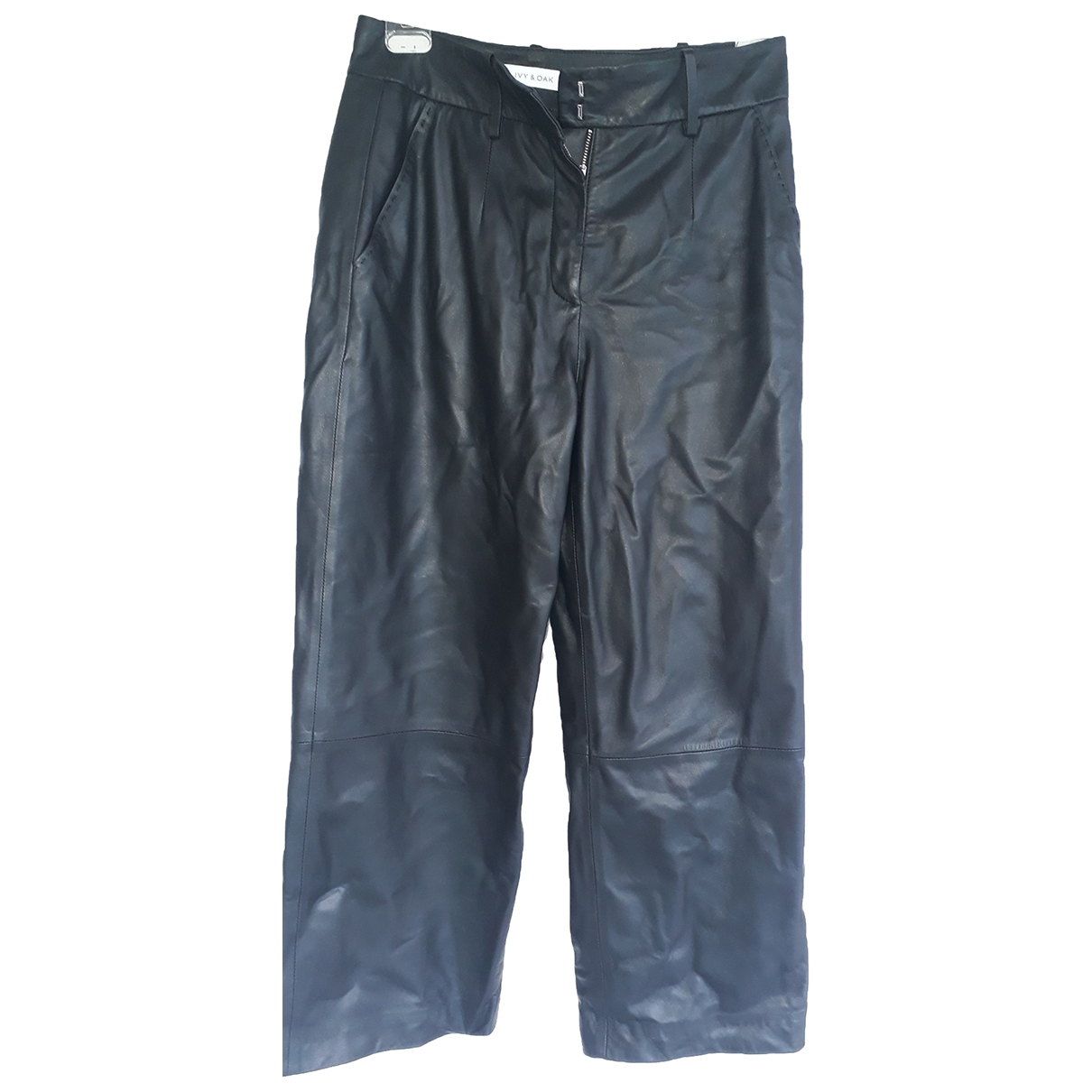 Ivy And Oak \N Black Leather Trousers for Women 40 FR