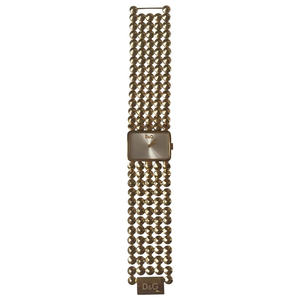 D&g \N Gold Steel watch for Women \N