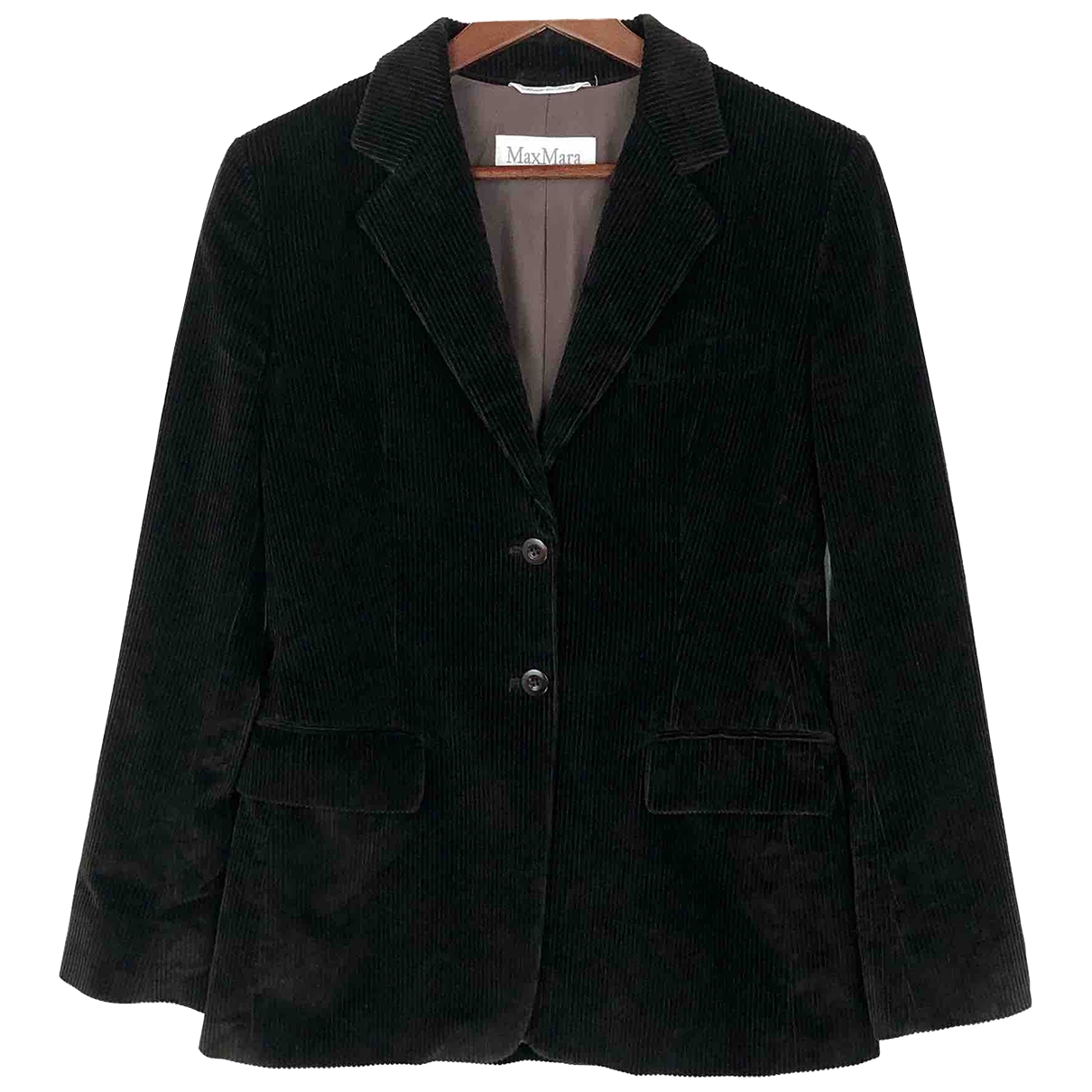 Max Mara \N Black Cotton jacket for Women 6 US