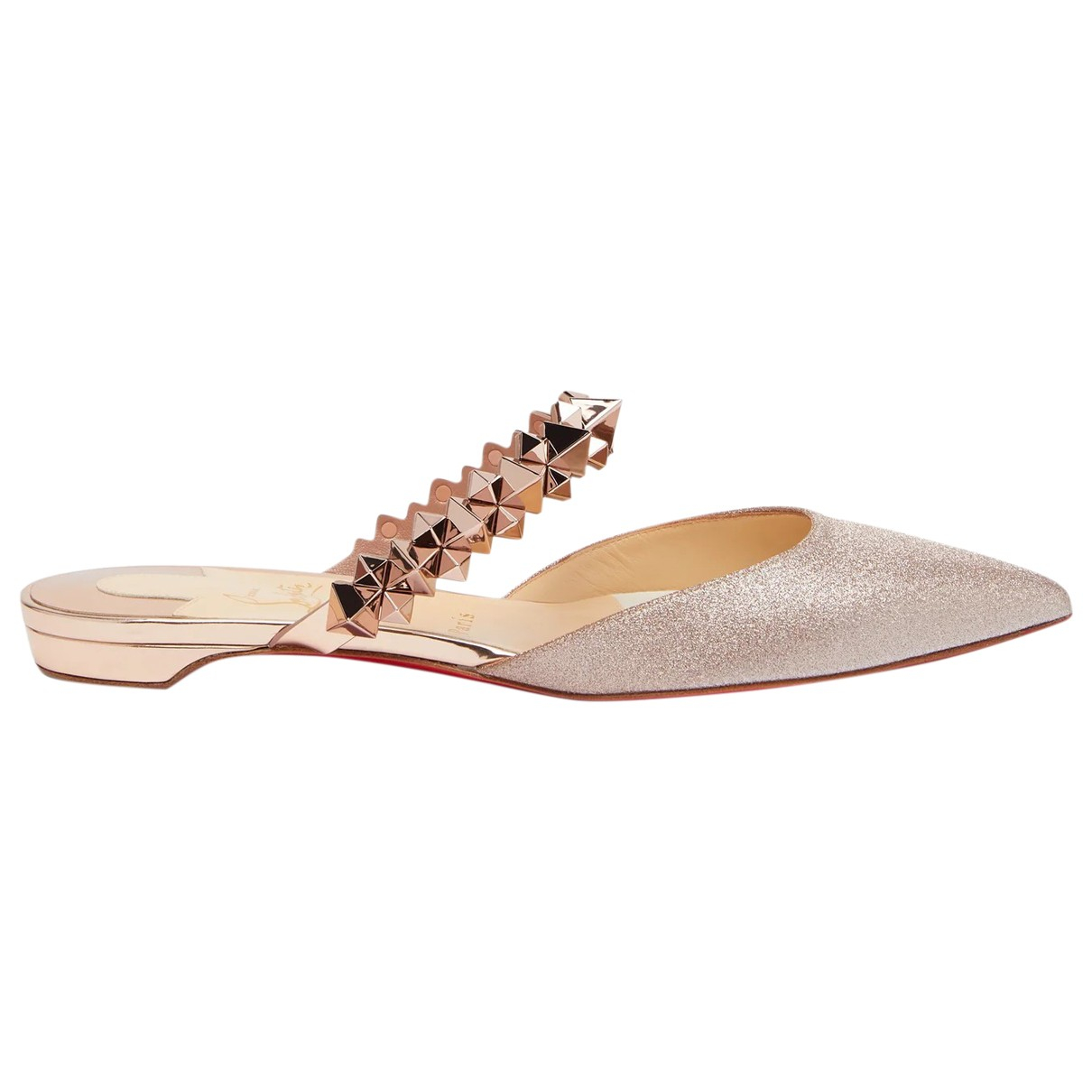 Christian Louboutin \N Gold Leather Sandals for Women 42 EU