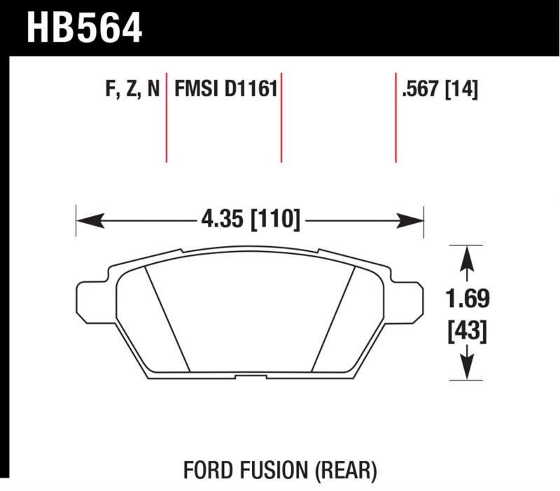 Hawk Performance HB564Z.567 Disc Brake Pad Rear