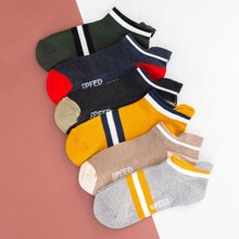6pairs Men Striped Ankle Socks