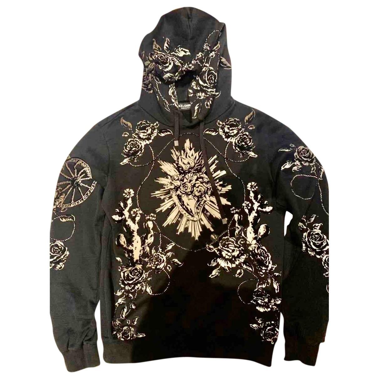 Dolce & Gabbana \N Black Cotton Knitwear & Sweatshirts for Men 46 IT