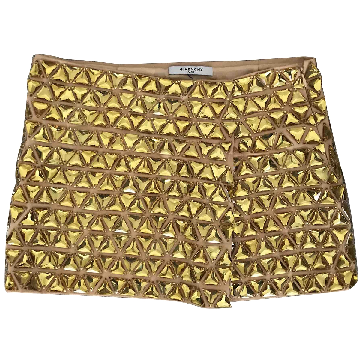 Givenchy \N Gold Cotton skirt for Women 36 FR