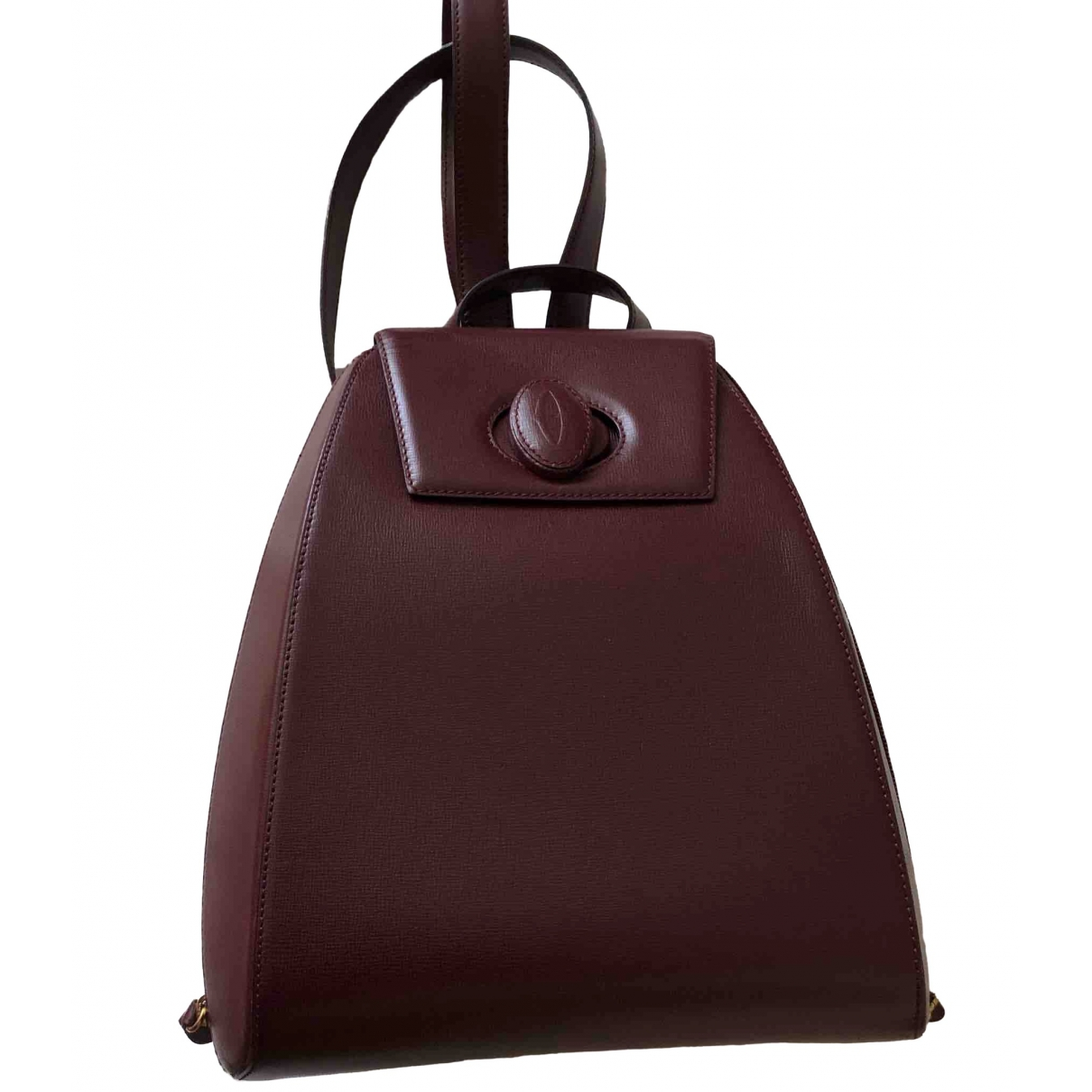 Cartier \N Burgundy Leather backpack for Women \N