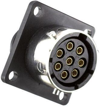 Souriau Connector, 3 contacts Flange Mount Plug, Crimp