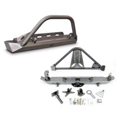 Genuine Packages Poison Spyder Brawler Front and Rear Bumpers (Bare) - TJSPECIAL07