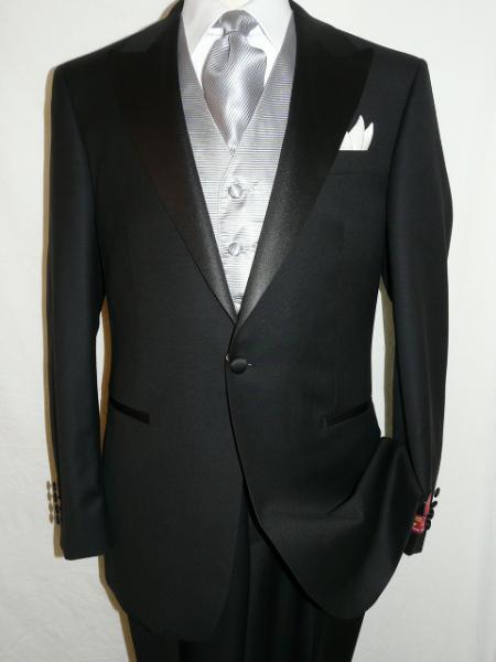 Black Tuxedo 1 wool super 140s suit