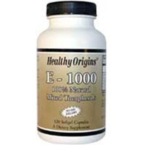 Natural Vitamin E 120 Soft Gels by Healthy Origins