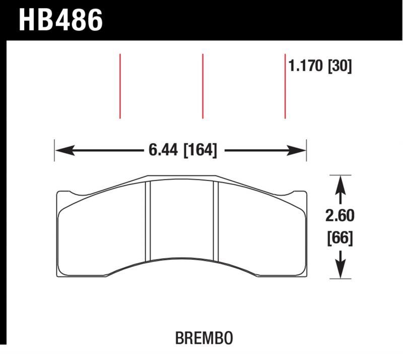 Hawk Performance HB486U.708 Disc Brake Pad