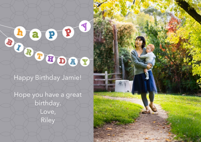 Birthday Greeting Cards 5x7 Cards, Premium Cardstock 120lb with Rounded Corners, Card & Stationery -Birthday Banner