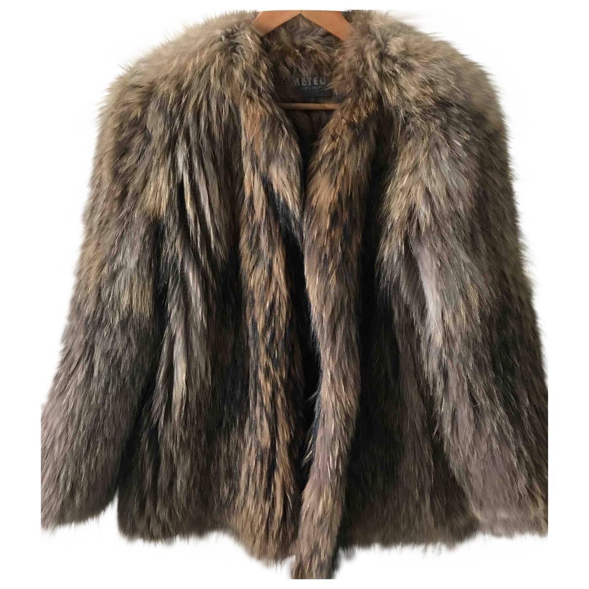 Yves Salomon \N Brown Raccoon jacket for Women 36 FR