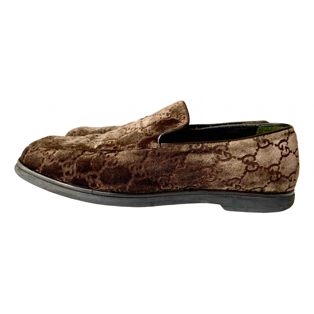 Gucci \N Brown Velvet Flats for Women 38 IT