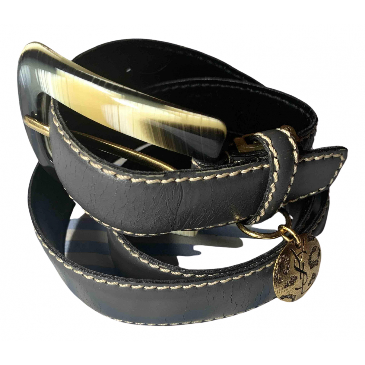 Yves Saint Laurent \N Grey Leather belt for Women M International