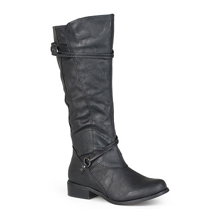 Journee Collection Womens Harley Riding Boots, 7 1/2 Medium, Black