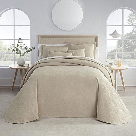 Liz Claiborne Daphne Floral Embellished Bedspread, One Size , Beige