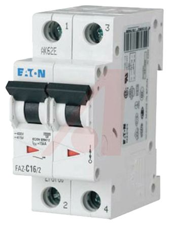 Eaton xEffect 16 A MCB Mini Circuit Breaker, 2P Curve D