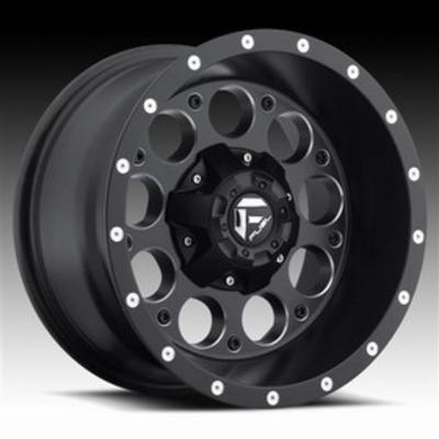 MHT Fuel Offroad D525 Revolver, 18x9 Wheel with 6 on 135 and 6 on 5.5 Bolt Pattern - Black Milled - D52518909845