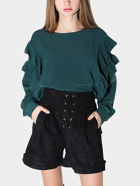 Yoins Blouse with Ruffle Sleeves