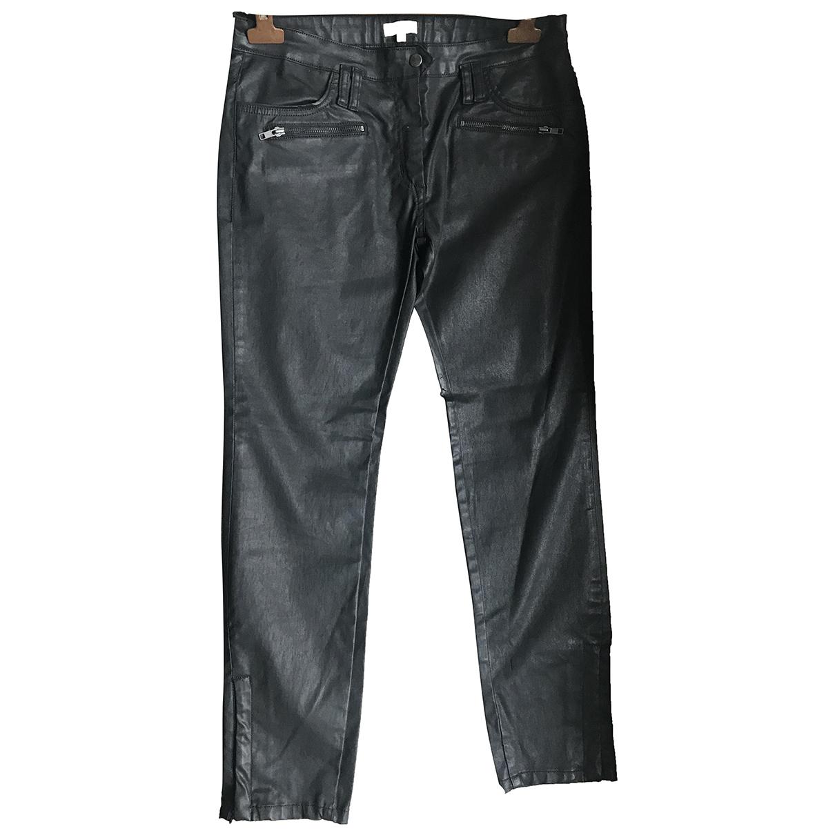 Claudie Pierlot \N Black Cotton - elasthane Jeans for Women 40 FR