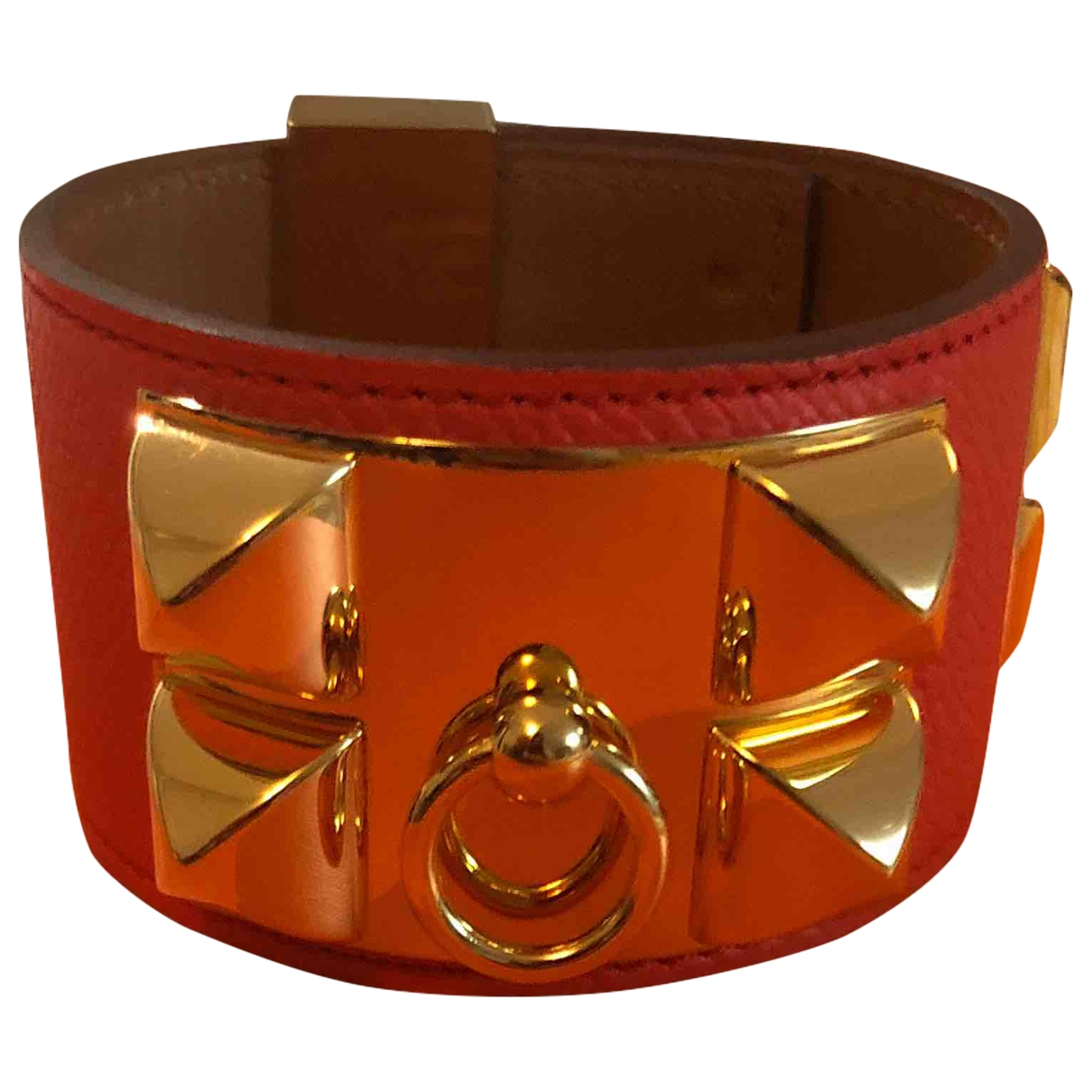 Hermès Collier de chien  Orange Leather bracelet for Women \N