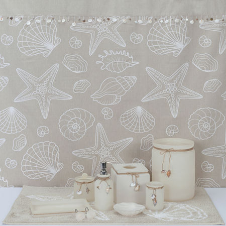 Creative Bath Ipanema Shower Curtain, One Size , White