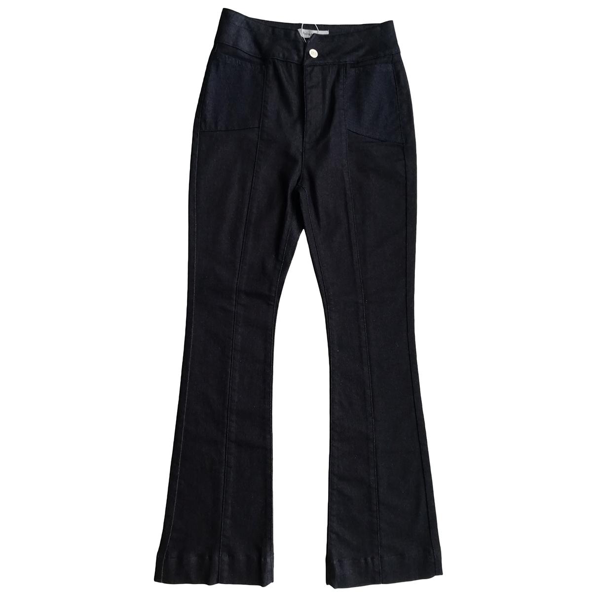 Pedro Del Hierro \N Navy Cotton - elasthane Jeans for Women 36 FR