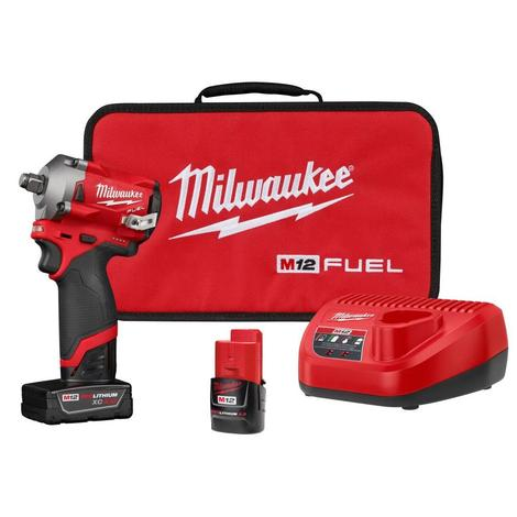 Milwaukee M12™ Fuel™ Stubby 1/2 in. Impact Wrench Kit