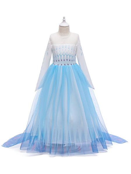 Milanoo Disney Frozen 2 Elsa Dress Cosplay Costume For Kids
