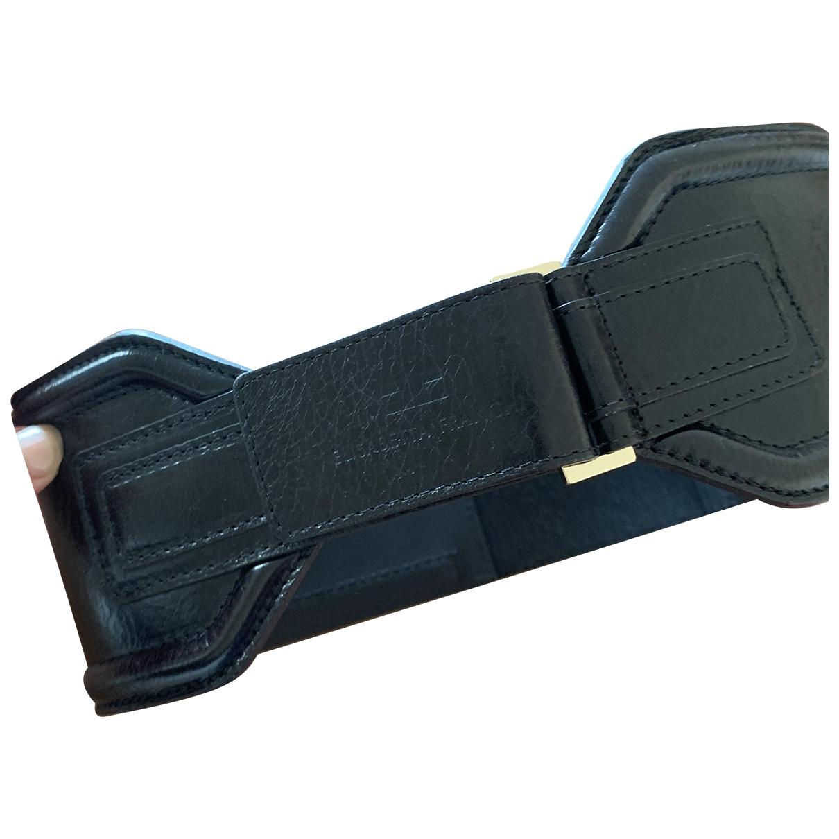 Elisabetta Franchi \N Black Leather belt for Women S International