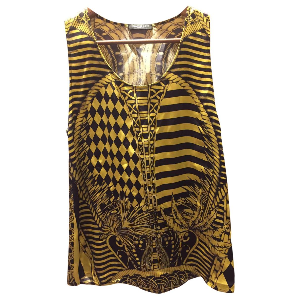 Balmain \N Yellow  top for Women 38 FR