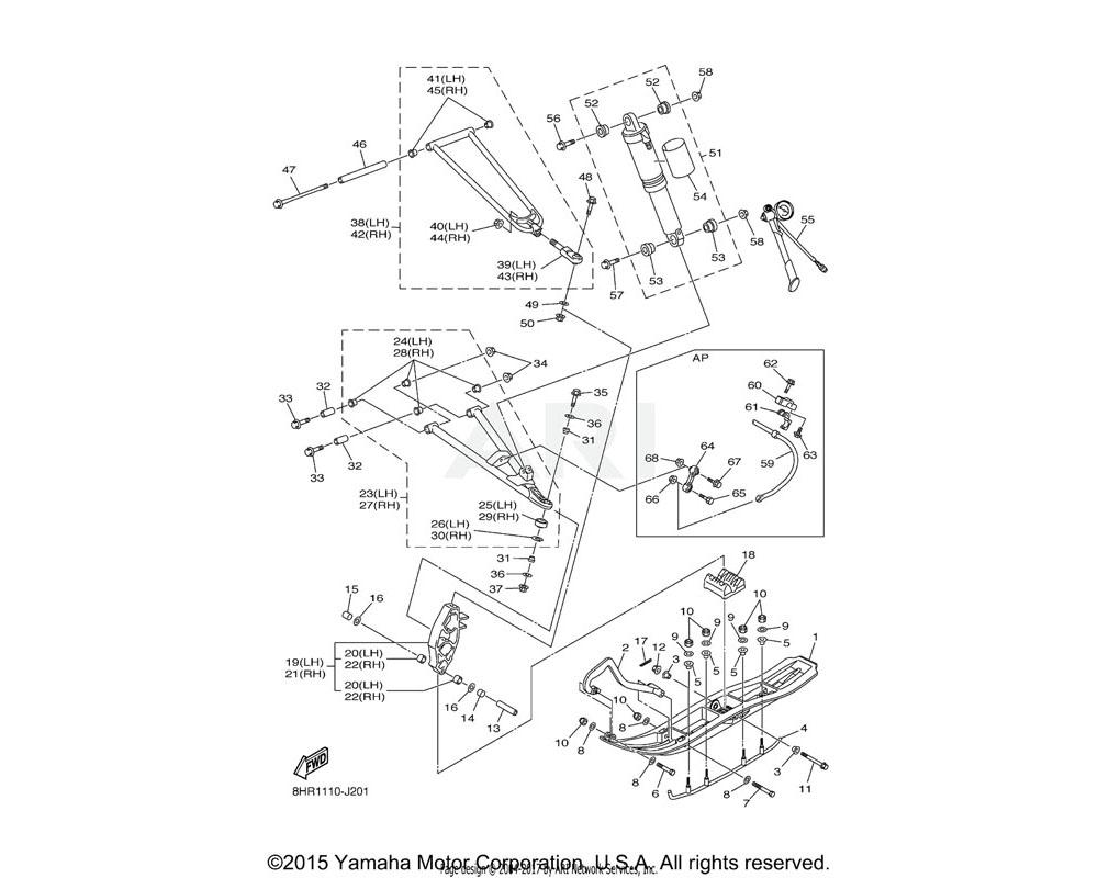 Yamaha OEM 8GL-2386C-00-00 HOLDER, STABILIZER FRONT | AP