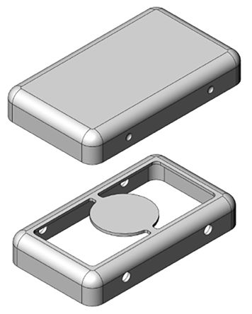 Masach Tech MS Tin Plated Steel PCB Enclosure, 18.3 x 10.5 x 3mm