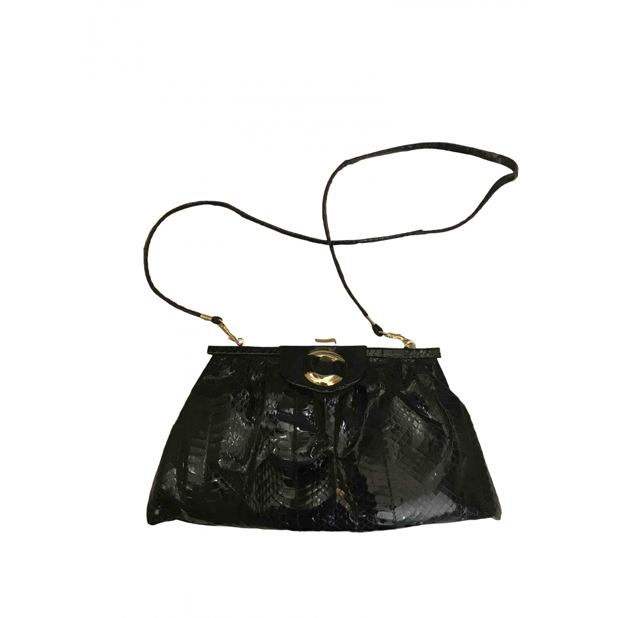 Non Sign?? / Unsigned \N Black Crocodile handbag for Women \N